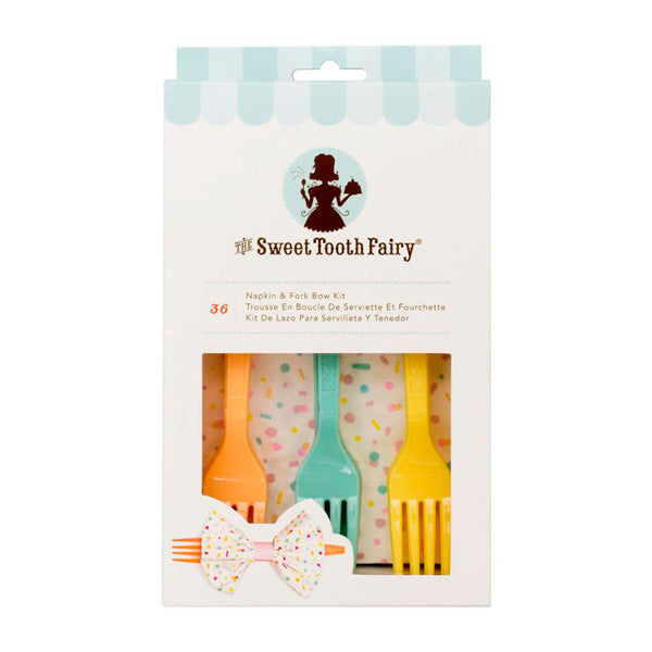 Kit Lazo para Servilleta y Tenedor Color Sweet Tooth Fairy