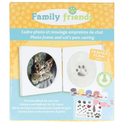 Marco Fotos y Molde Huella Gato Family Friends