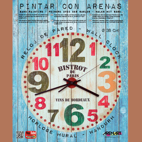 Kit Reloj de Arenas Colores 'Bistrot Paris' 38cm ARENART