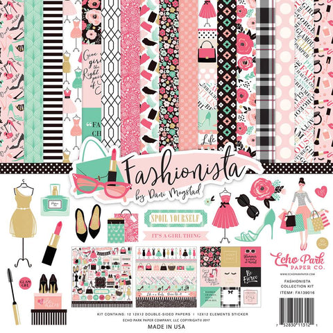 "Kit Scrapbooking Fashionista 12x12"" Echo Park"