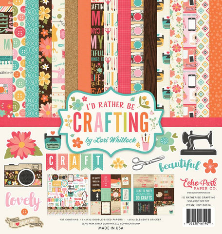 "Kit Scrapbooking I'd Rather Be Crafting 12x12"" Echo Park"
