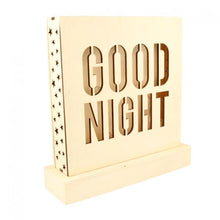 Lámpara LED 'Good Night' de Madera Artemio