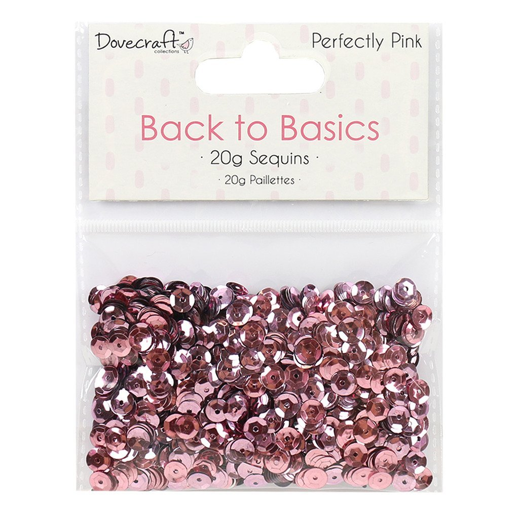 Lentejuelas Rosas Back to Basics 20gr Dovecraft