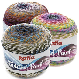 Ovillo Lana Twisted Paint 150gr Katia
