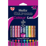 Pack 10 Boligrafos Gel Colores Helix OXFORD