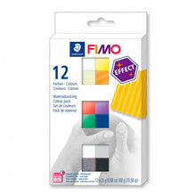 Pack 12 Colores Effect 25gr FIMO