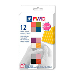 Pack 12 Colores Fashion 25gr FIMO