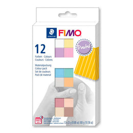Pack 12 Colores Pastel 25gr FIMO