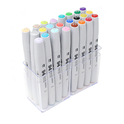 Pack 24 Rotuladores 94 Graphic Marker Colores Pastel y Básicos