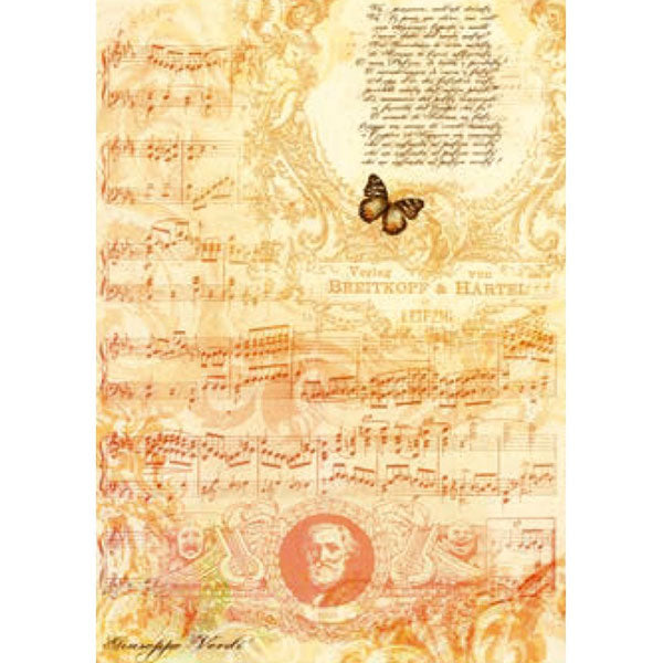 Papel Arroz 'Partitura Verdi' 35x50cm Chopo