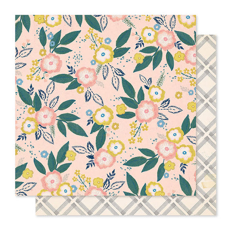 "Papel Scrap 'Blossom' Willow Lane 12x12"" Crate Paper"