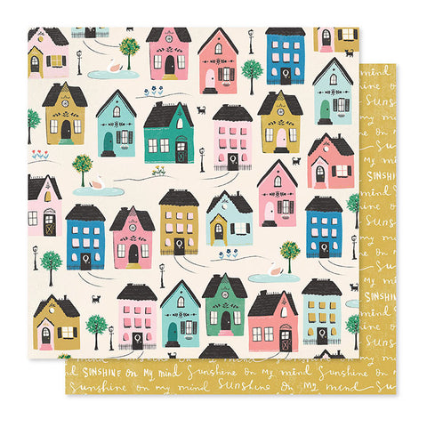 "Papel Scrap 'Cottage' Willow Lane 12x12"" Crate Paper"