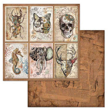 Papel Scrap 'Mechanical Fantasy Cards' 30,5x30,5cm Stamperia SBB609