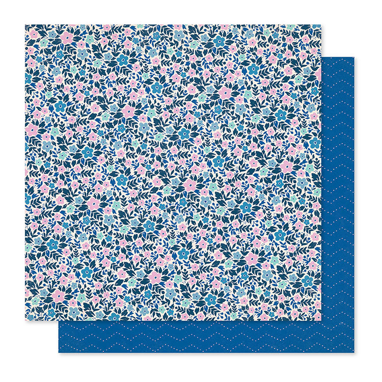 "Papel Scrap 'Periwinkle' Willow Lane 12x12"" Crate Paper"