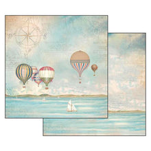 Papel Scrap 'Sea Land Globos' 30,5x30,5cm Stamperia SBB543