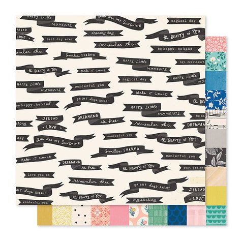 "Papel Scrap 'Spread Love' Willow Lane 12x12"" Crate Paper"