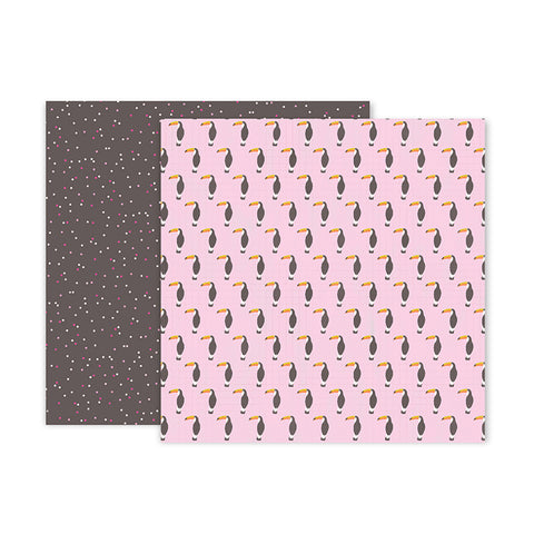 "Papel Scrap Confetti Wishes 12x12"" Pink Paislee #11"