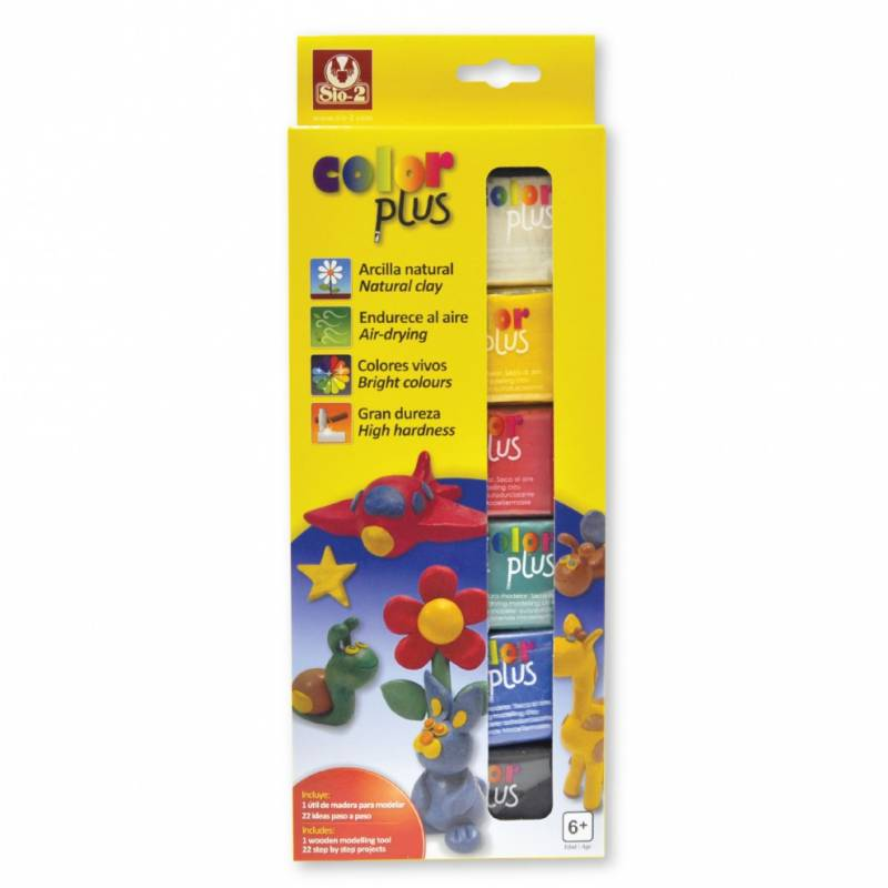 Arcilla Natural x6 Secado al Aire Colorplus SIO-2