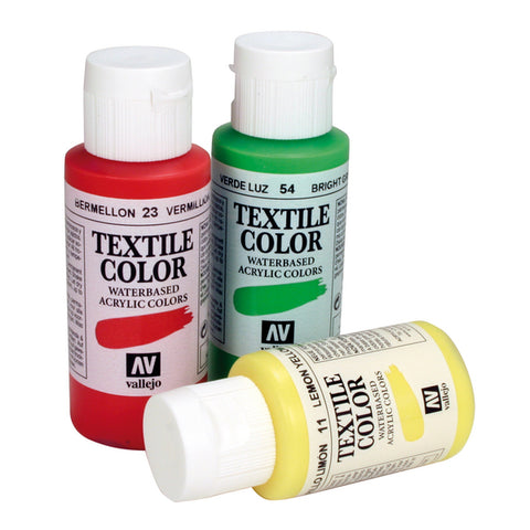Pintura para Tela Textile Color 60ml Vallejo