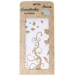 Plantilla Stencil 25x12,5cm Carrotcake Sweet - Branch Nature by Vallejo