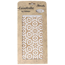 Plantilla Stencil 25x12,5cm Carrotcake Happy - Hidraulic Floor by Vallejo