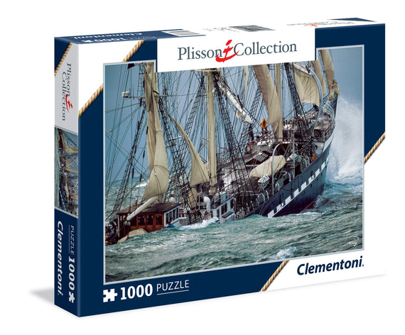 Puzzle 1000 The Last French Tail Ship Clementoni Plisson