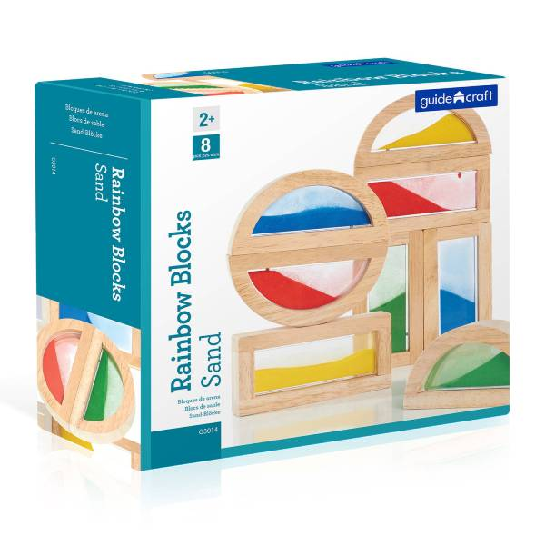 Rainbow Blocks Sand Guide Craft