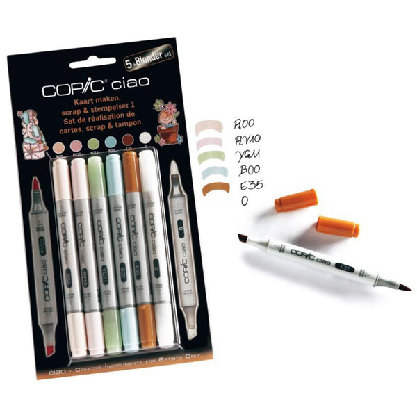 Rotuladores Copic Ciao 5+1 Set Scrap & Stamping 1