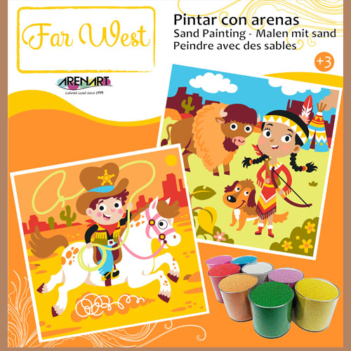 Kit Completo Arenas de Colores 'Far West' ARENART