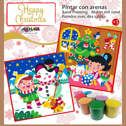 Kit Completo Arenas de Colores 'Happy Christmas' ARENART