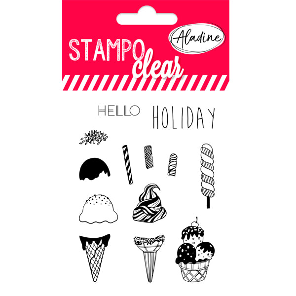 Sellos Stampo Clear Individuales 'Helados' ALADINE