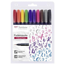 Set 10 Rotuladores Fudenosuke Colores Tombow