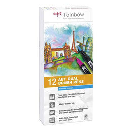 Set 12 Rotuladores Tombow Dual Brush Colores Primarios