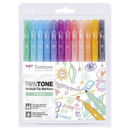 Set 12 Rotuladores Colores Pastel TWINTONE Tombow