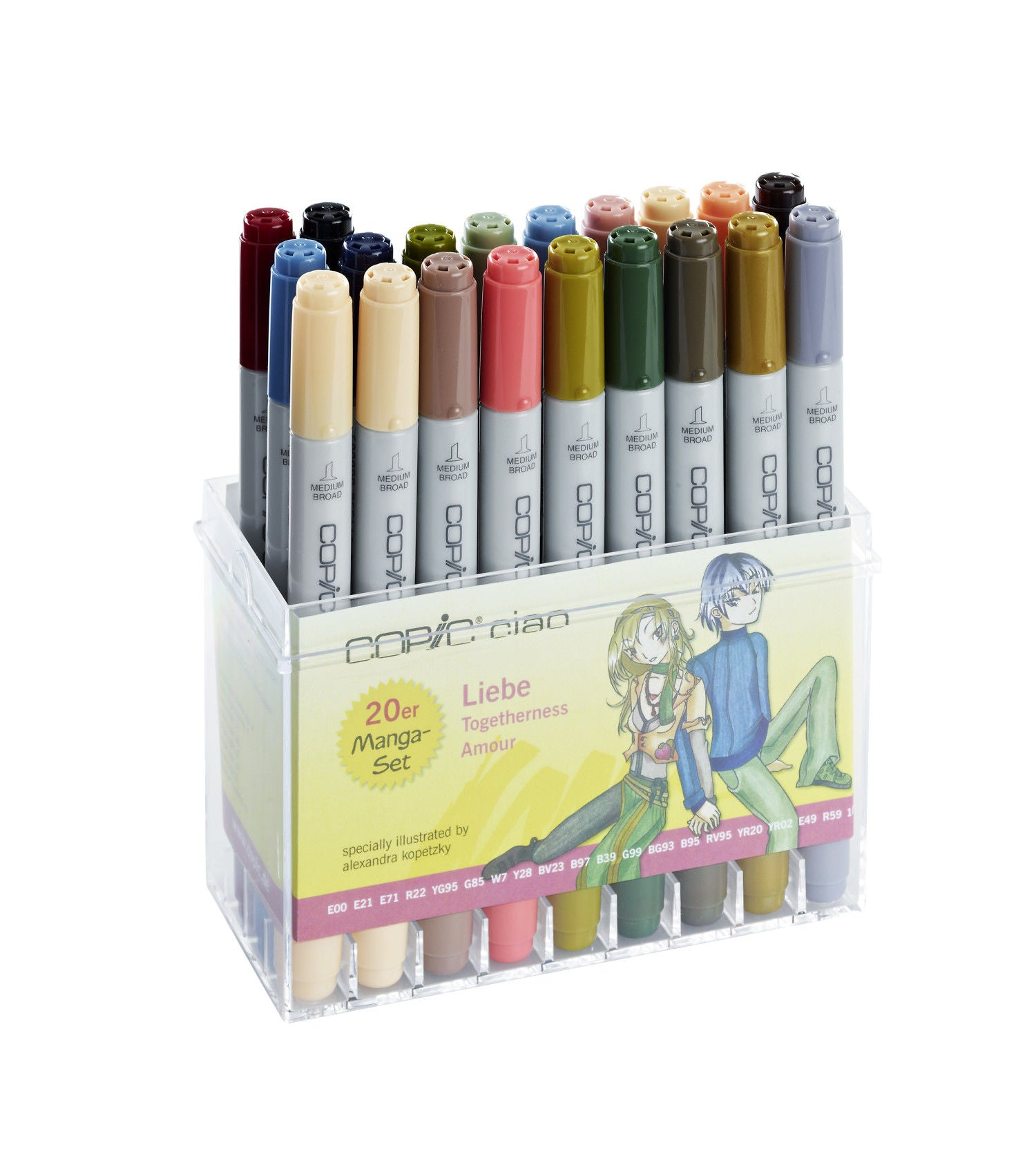 Set 20 Rotuladores Manga Copic Ciao Completo