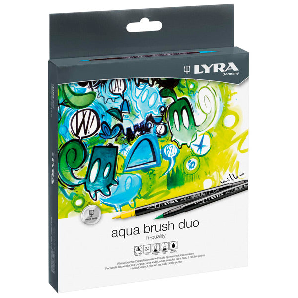 Set 24 Rotuladores LYRA AQUA BRUSH Duo
