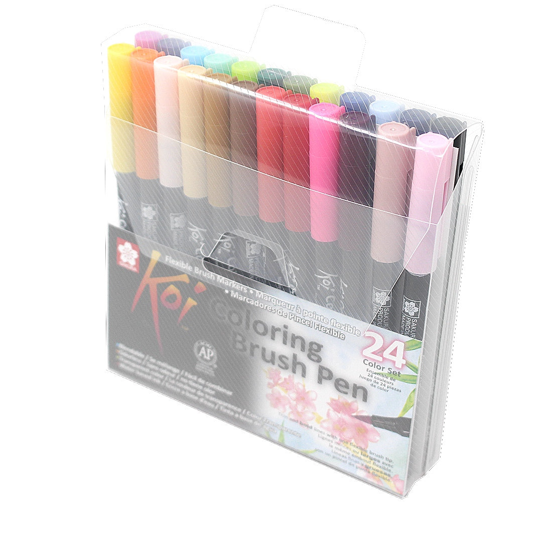Set 24 Rotuladores Sakura KOI Coloring Brush Pen