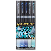 Set 5 Rotuladores Chameleon Pens Colores Azules