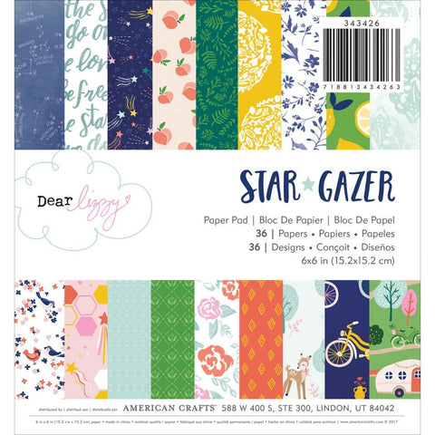 "Set Papeles Scrap Star Gazer 6x6"" Dear Lizzy"