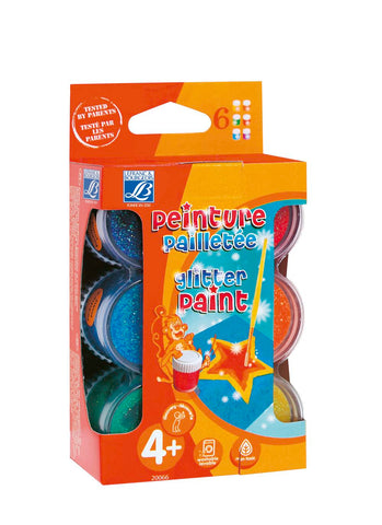 Set 6 Gouache con Purpurina 22ml Lefranc & Bourgeois