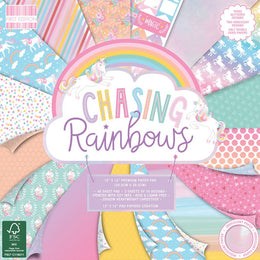 "Set Papeles Scrap Chasing Rainbows 12x12"" First Edition Paper"