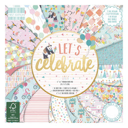 "Set Papeles Scrap 'Let's Celebrate' 12x12"" de First Edition"