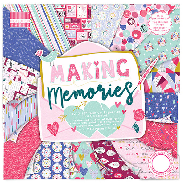 "Set Papeles Scrap 'Making Memories' 12x12"" First Edition Paper"