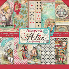 Set Papeles Scrap 'Alice' 30,5x30,5cm Stamperia