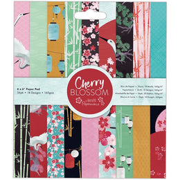 "Set Papeles Scrap 'Cherry Blossom' 6x6"" Docrafts"
