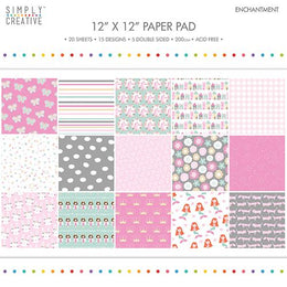 "Set Papeles Scrap Enchantment 12x12"" Simply Creative"