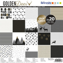 "Set Papeles Scrap 'Golden Deer' 12x12"" Artemio"