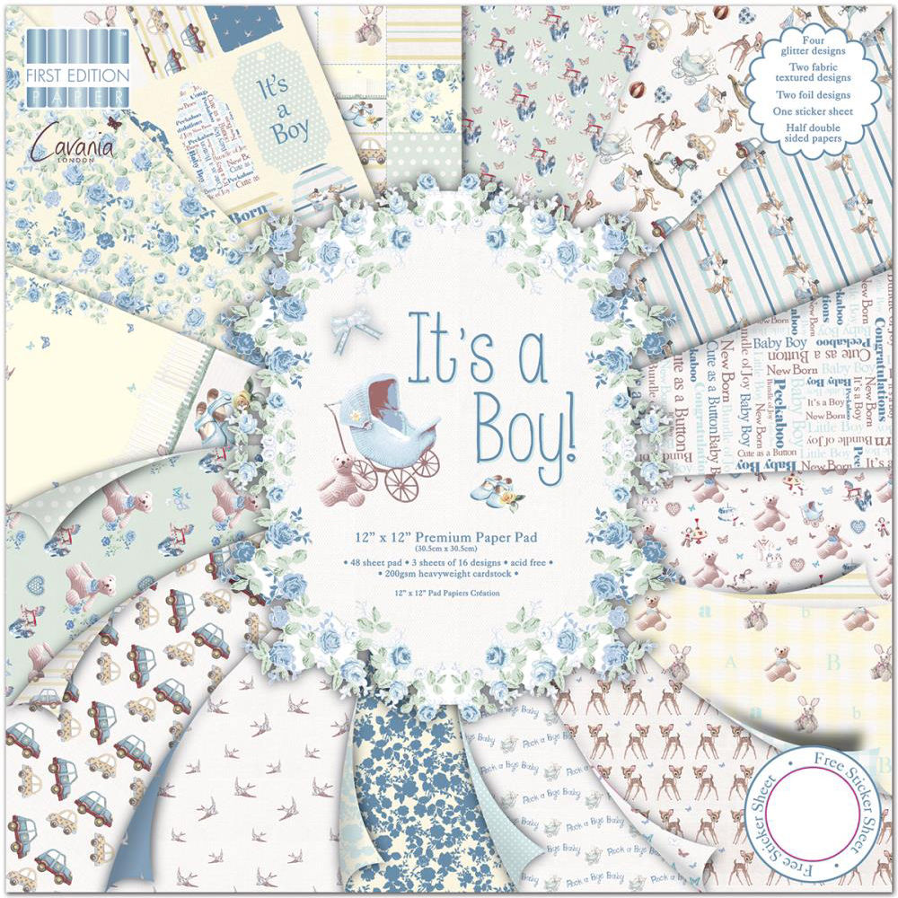 "Kit Scrapbooking It's a Boy 12x12"" First Edition"