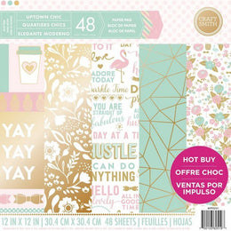 "Set Papeles Scrap Uptown Chic 12x12"" Craft Smith"