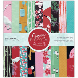 "Set Papeles Scrap 'Cherry Blossom' 12x12"" Docrafts"